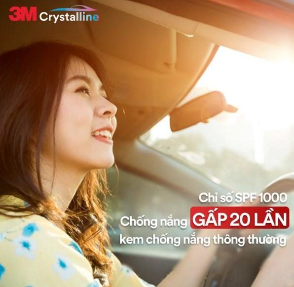 Phim Cách Nhiệt Kính Lái 3M Crystalline CR60 sở hữu chỉ số SPF 1000