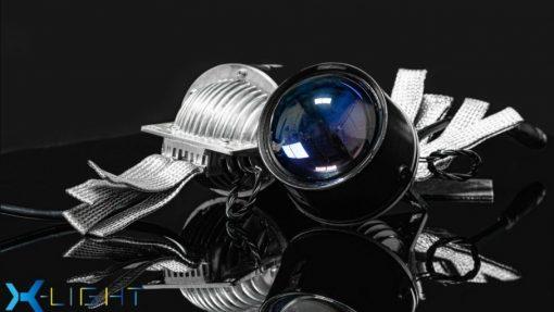 Cầu đèn màu xanh tím sắc nét của Bi Gầm Led X-Light F10