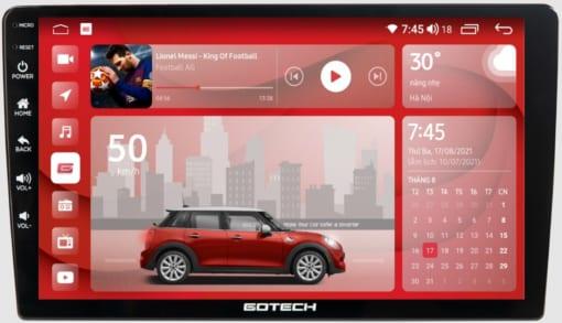 Giao diện màn hình ô tô thông minh GOTECH GT6.