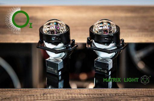 Mặt trước sắc nét của Bi Led Matrix Light O1