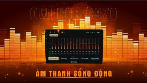 màn hình ô tô owmice c970 premium mang đến âm thanh sống động