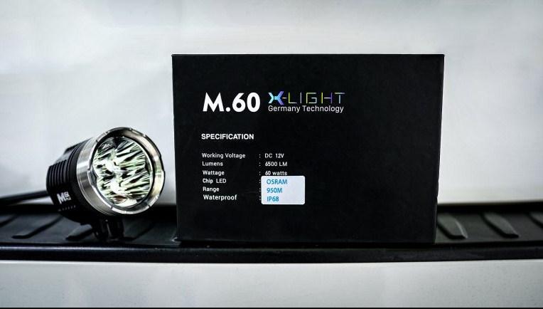 Thống số kỹ thuật của đèn trợ sáng X-Light M60 Plus