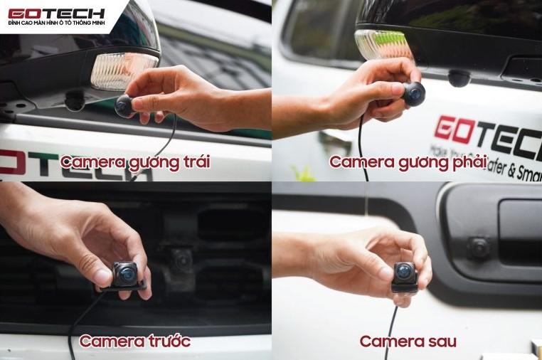Màn hình liền camera Gotech GT360 Plus được trang bị hệ thống camera 360 thông minh