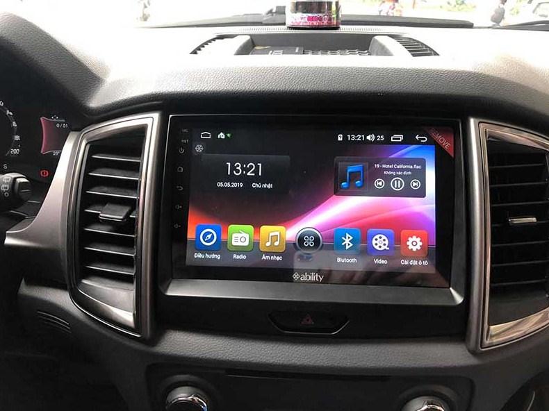 Độ màn hình android cho xe Ford Ranger