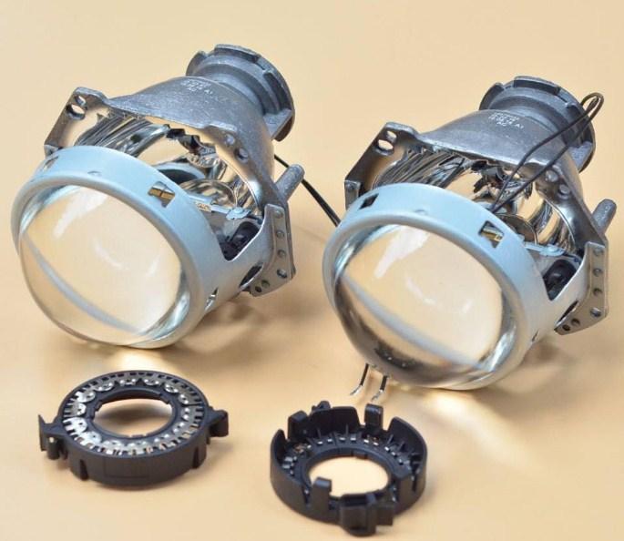 Bóng đèn Projector bao gồm thấu kính bán cầu, bóng đèn và màn trập