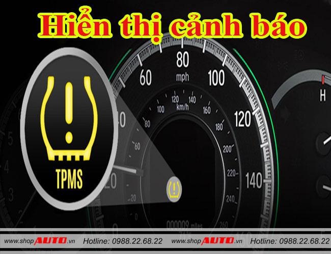 Cảnh báo áp suất lốp hiển thị cảnh báo